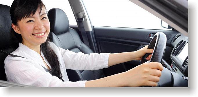 happy Brisbane driving school student
